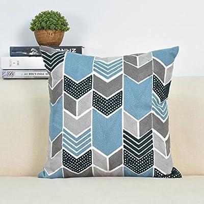 Bordados Chengbao almohada almohada toalla de algodón almohada cojín acolchado cojín de cama almohada nap office core ventana,45x45cm (alta calidad / core) ...