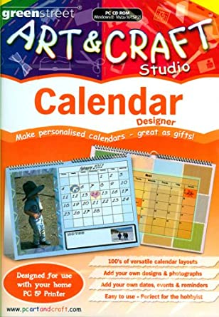 art craft calendar maker amazon co uk software