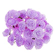Generic Artificial Faux Silk Rose Flower Heads Bulk Wedding Party Decor Lilac Pack of 50