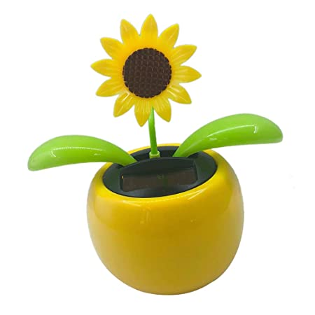 b5c6117b9 FLAMEER Solar Powered Flip Flap Dancing Flower Toy For Car Dashboard Decor  Automatic Dancing Flower Toy Kid s Gift - Sunflower 1