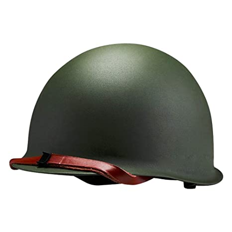 Amazon com : WW2 US Military Steel Shell ABS Liner M1 Helmet