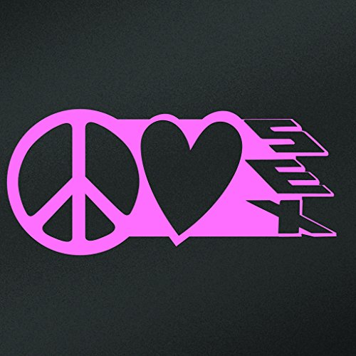 Peace Love Sex Vinyl Decal Sticker | Cars Trucks Vans Walls Laptops Cups | Pink | 7.5 X 3.3 Inch | KCD1623P (Ky Lube Costume)