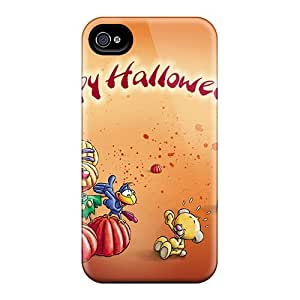 For Iphone 4/4s Premium Tpu Case Cover Happy Halloween Protective Case
