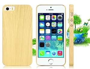 CECT STOCK La alta calidad de la caja de madera del grano de protección para el iPhone 5S