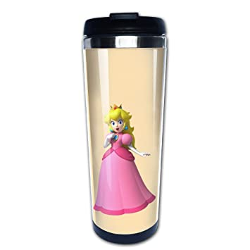 Princesa Peach para ir taza acero inoxidable: Amazon.es: Hogar
