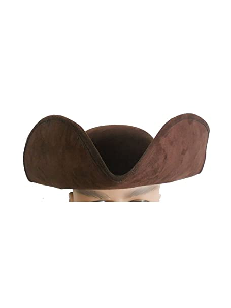 a3dd8d14bdb3a Amazon.com  Jacobson Hat Company Brown Tricorne Hat FBA