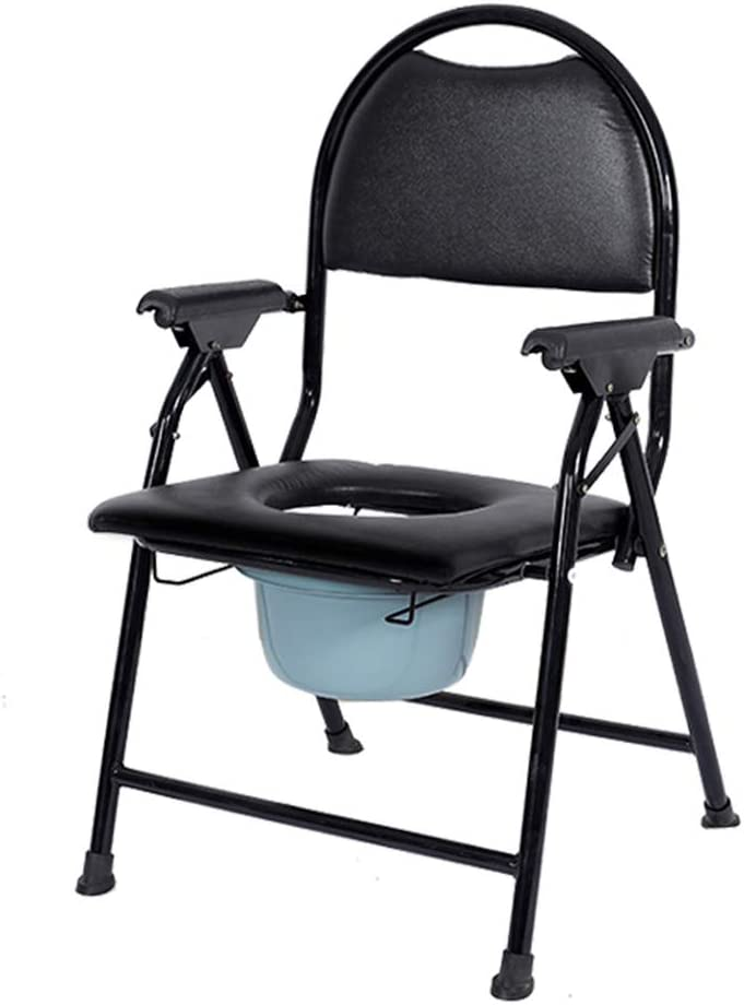Elderly supplies Bedside Commodes, Bedroom Toilet Chair, Toilet Seats & Commodes, Toilet Shower Toilet Chair, Folding Portable Commode, Toilet seat and Frame for The Disabled 51WmLNqmSMLSL1000_