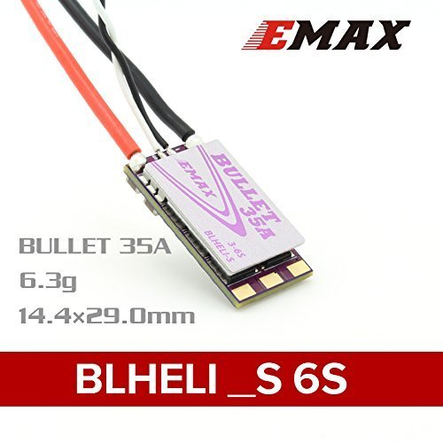 Thriverline EMAX Bullet 35A ESC BLHeli-S Electronic Speed Control 3-6S Support MULTISHOT ONESHOT42 ONESHOT125 for FPV Racing Drone