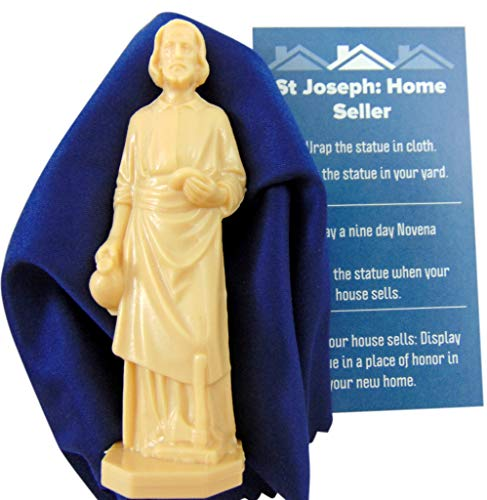 Westmon Works St Joseph The Home Seller Kit with Instructions and Burial Cloth (St Joseph Prayer To Sell My House)