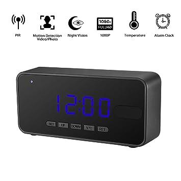1080P Full HD espía cámara reloj despertador omoup Alarm Spy clock Camera – Cámara de vigilancia