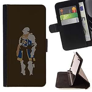 For Samsung Galaxy J3(2016) J320F J320P J320M J320Y Case , Minimalista Knight- la tarjeta de Crédito Slots PU Funda de cuero Monedero caso cubierta de piel