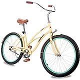 """Merax 26"""" Womens Beach Cruiser Bike"""