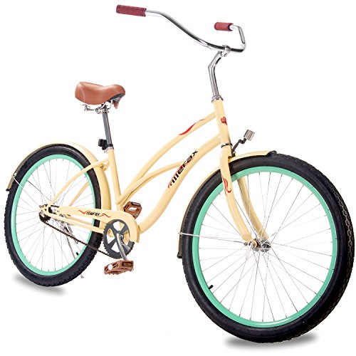 "Merax 26"" Women's Beach Cruiser Bike (Yellow)"