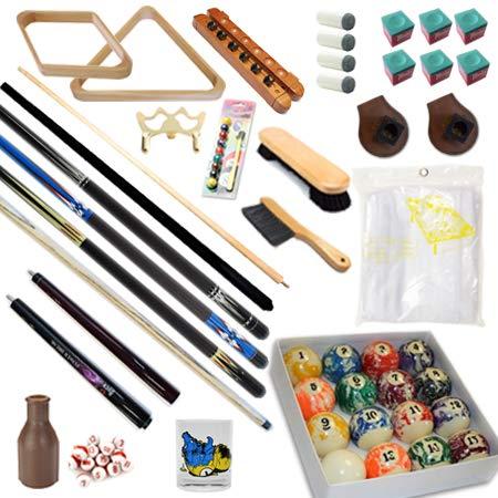 プールテーブル – プレミアムビリヤード32 Piecesアクセサリキット – 橋プールキュースティックボールセット Kit-8