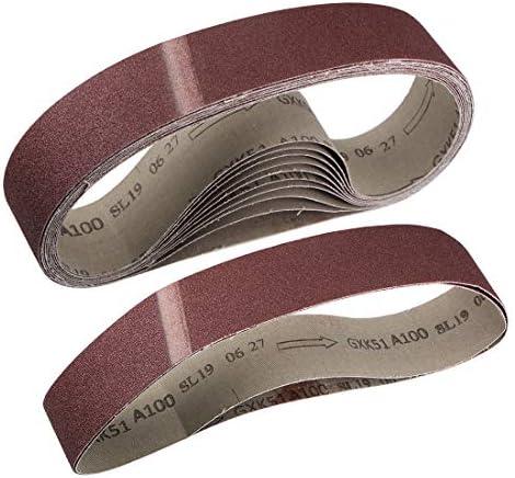 uxcell 研磨ベルト サンディングベルト サンディングベルト 100グリット 酸化アルミニウム 50mm x 686mm 12個入り