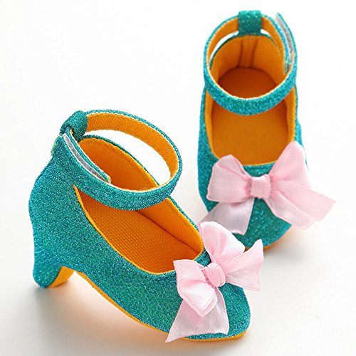 Cheap Baby Girl Fashion Prewalker High Heel Shoes 0-1T/0-6 months (Turquoise)