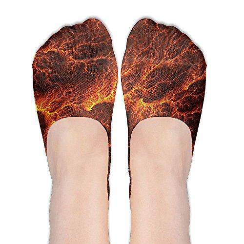 No Show Socks Lava Flow Print Low Cut Liner Socks Flat Boat Liner For Women