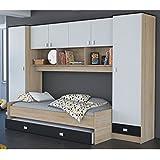 Uberbau Jugendzimmer 4 Teilig Bett Regal Kleiderschrank Printdekor