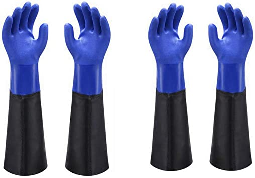 Long Latex Gloves Industrial Chemical Acidproof Work Rubber Glove Hand Protector