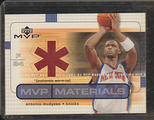 2003 MVP Antonio McDyess Knicks Game Used JWarm Ups Baseketball Card ()