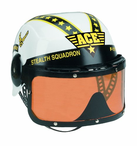 Aeromax Jr. Armed Forces Pilot Helmet with Tinted, Movable Visor]()