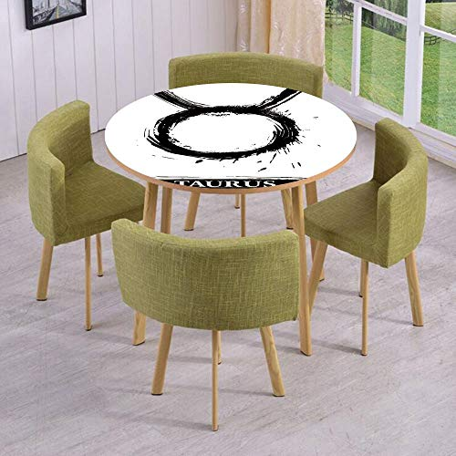 iPrint Round Table/Wall/Floor Decal Strikers,Removable,Brushstroke Style Zodiac Sign