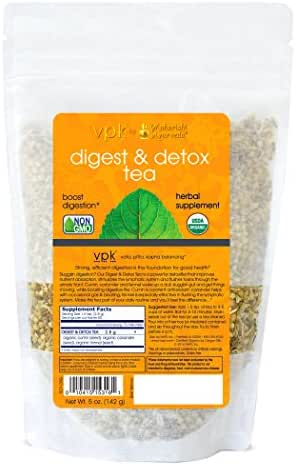 Organic Digest & Detox Tea - Kulreet Chaudhary The Prime | 5 oz. (142g) | Powerful Detoxifier | Flush Toxins from Urinary Tract | Stimulates the Lymphatic System