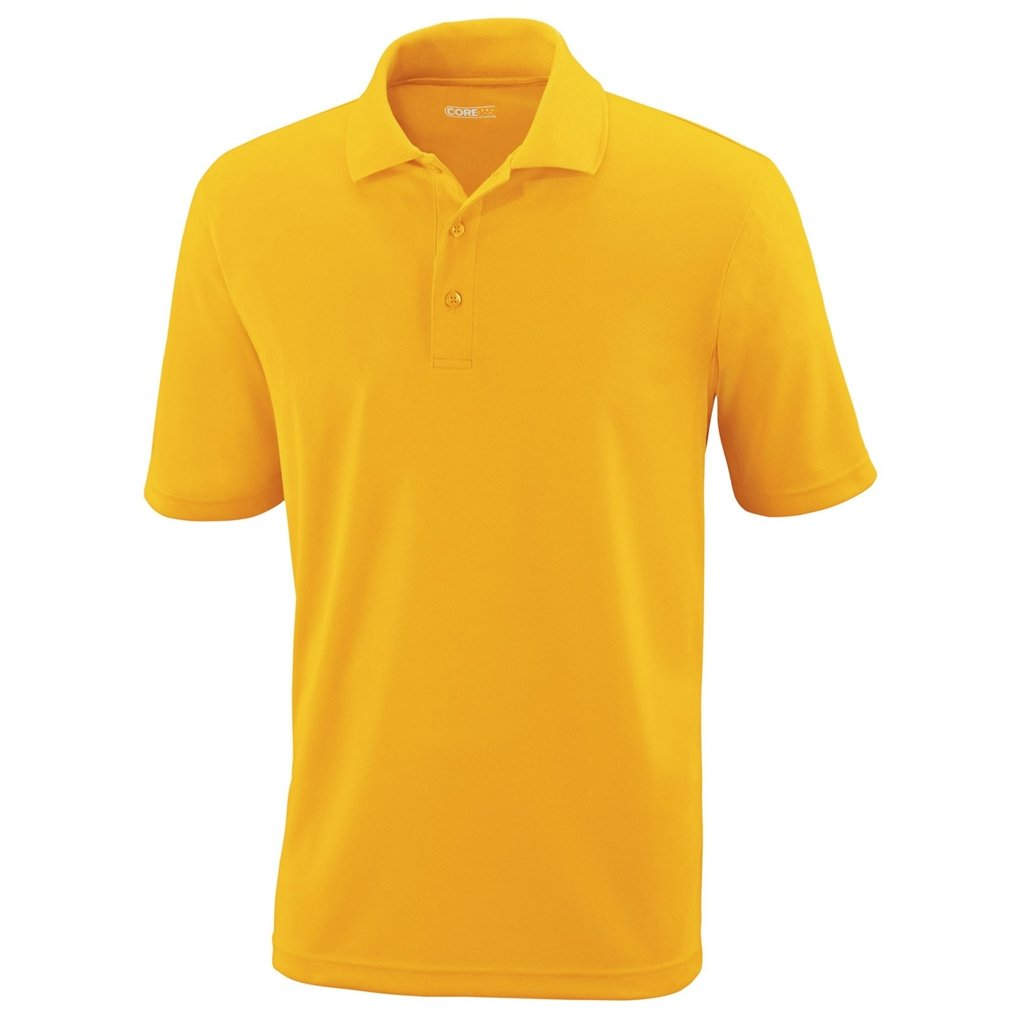 Ash City Mens Origin Polo Performance Shirt (Large, Campus Gold) by Ash City Apparel