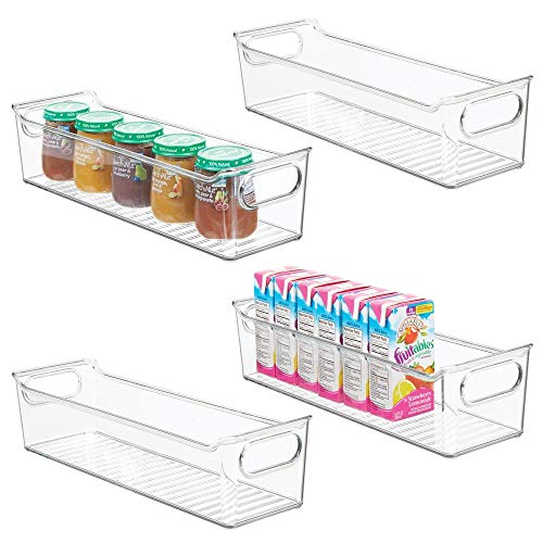 mDesign Storage Organizer Container Bin with Handles for Kids/Child Supplies in Kitchen, Pantry, Nursery, Bedroom, Playroom - Holds Snacks, Bottles, Baby Food - BPA Free, 14