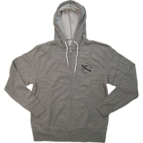 Lost Men's Carbon Planet Hoody Zip Sweatshirts,X-Large,Heather Gunmetal