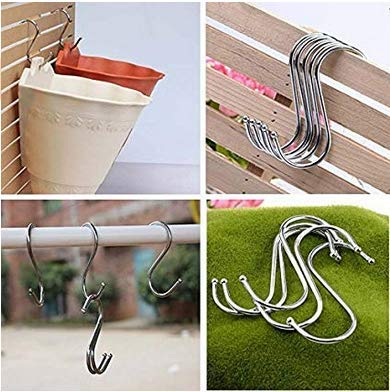Mr.yyg 1PC large stainless steel s-type hook kitchen rack iron hook clothes door S-shaped hook