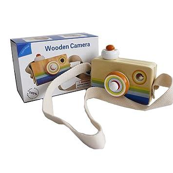 Gobus Cartoon Mini cámara de Madera de Juguete con Multi-Prism caleidoscopio Fotos Lente cámara
