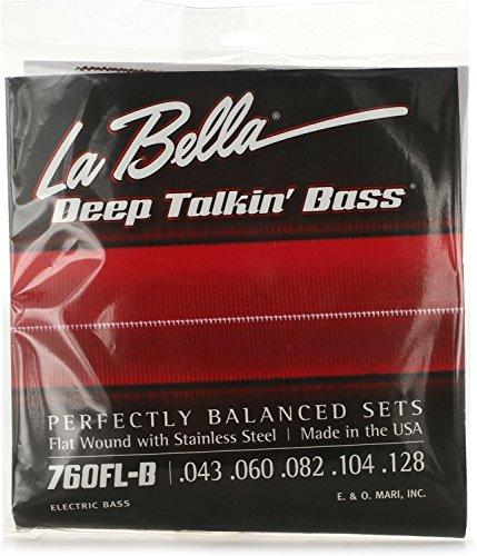 (La Bella 760FL-B Flat Wound Bass Strings Set 43/128)