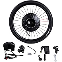 """Goplus 26"""" Front Bicycle Wheel Electric Bicycle Motor Kit E-Bike Conversion Kit Bicycle Accessories Set w/APP Interaction, Battery and USB Charger, 36V 240W"""