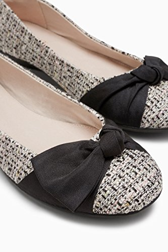 Next Fiocco Donna Monochrome Ballerine Forever Larga Con Comfort Tweed HF6Hq