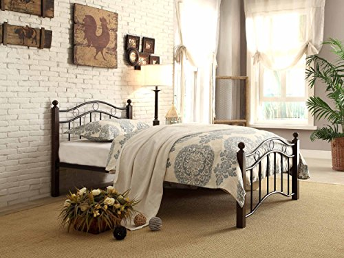 Homelegance Averny Metal Platform Bed, Twin, Black
