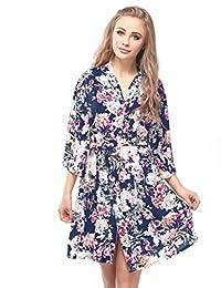 Skyfitting Women's Kimono Robe, Cotton Bridesmaid Robes, Short