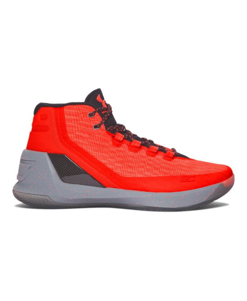 Under Armour Boys' Grade School UA Curry 3 Basketball Shoes 6 RED HOT SANTA by Under Armour