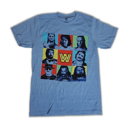 Undertaker Rick Rude Roddy Piper Legends WWE Mens Blue T-shirt-XXL by WWE