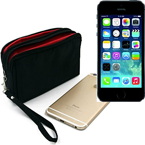 Belt Pack pour Apple iPhone 5s, noir. Sac de Voyage, couverture protection body bag Étui housse ceinture. | Poche Outdoor Case camping - K-S-Trade (TM)