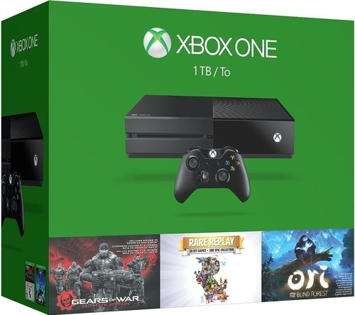 Microsoft Xbox One 1TB Console – 3 Games Bundle -Gears of War: Ultimate Edition + Rare Replay + Ori & the Blind Forest – Game Pad Supported – Wireless – Black – ATI Radeon (Certified Refurbished)