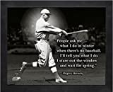 """Rogers Hornsby St. Louis Cardinals MLB Pro Quotes Photo (Size: 9"""" x 11"""") Framed"""