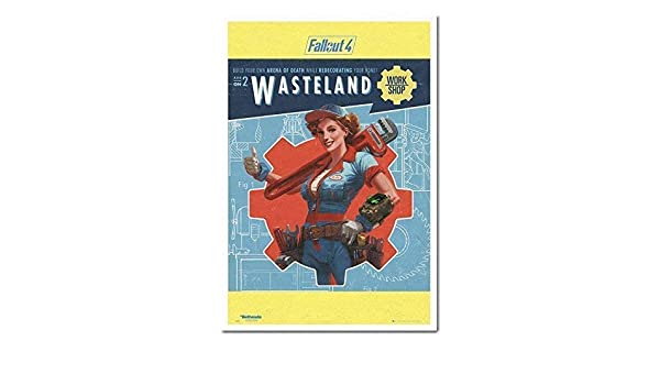 Fallout 4 Yermo Trabajo Shop Póster Corcho Pin Tablero De ...