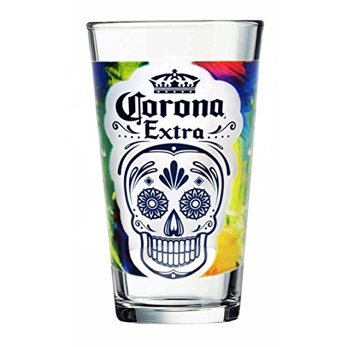 Corona Extra Day Of The Dead Pint Glass ()