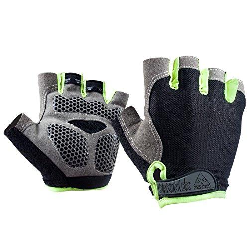 Black Led Light Up Fingerless Gloves