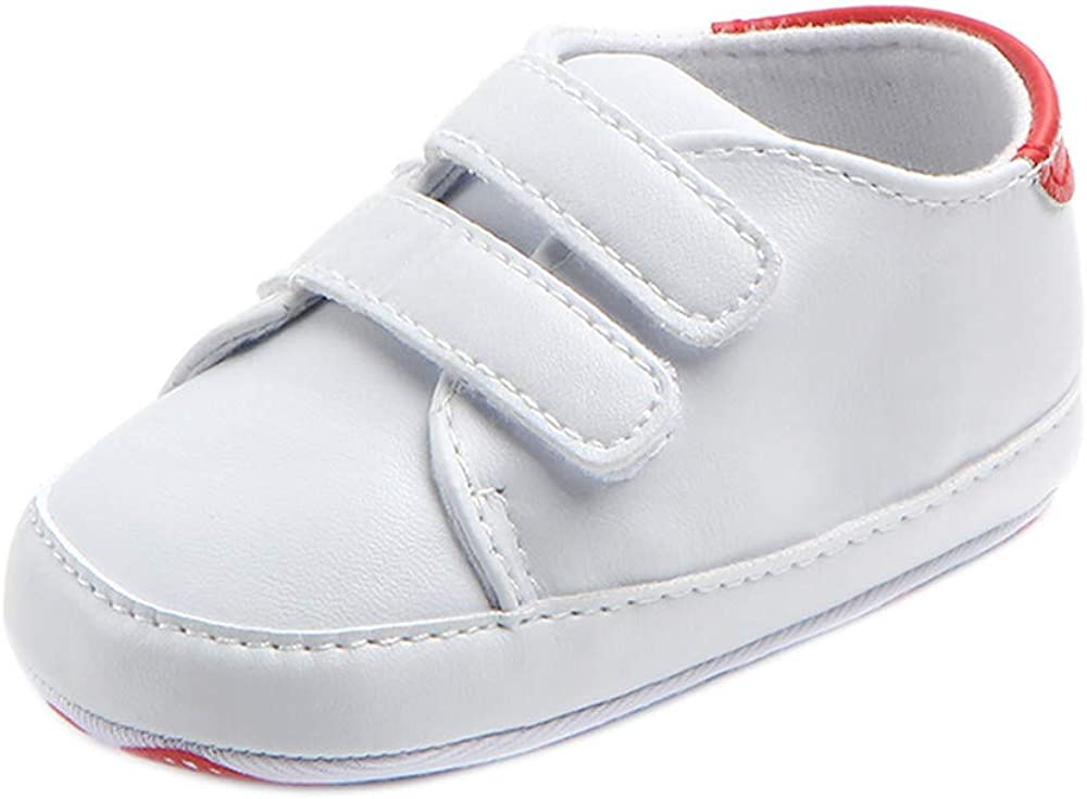 US Infant Toddler Baby Boy Girl Soft Sole Crib Shoes Sneaker Newborn to 12 Month