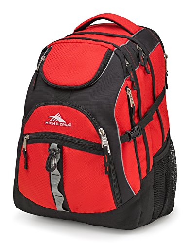 - High Sierra Access Laptop Backpack, Red