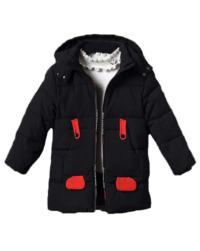 Giacche Piumino per Ragazzi Ragazze Bambini Invernale Giacca Cappuccio Cappotto Puffer Parka 3-8 Anni Runyue