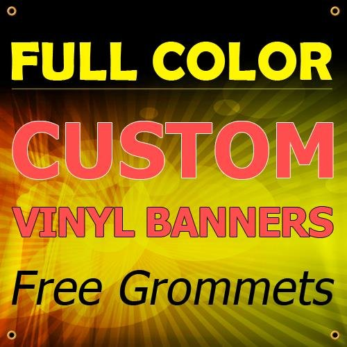 NEW 10'x20' Custom Full Color Vinyl Banners Indoor/Outdoor Personalized Banners with Grommets Custom Vinyl Party/Birthday Banner with True Solvent Ink Signs by BannerBuzz by BannerBuzz