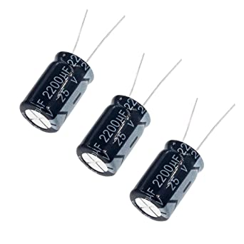 2 pieces Electrolytic Capacitor 220uf 25v 105 ° C Radial 8x13mm FC